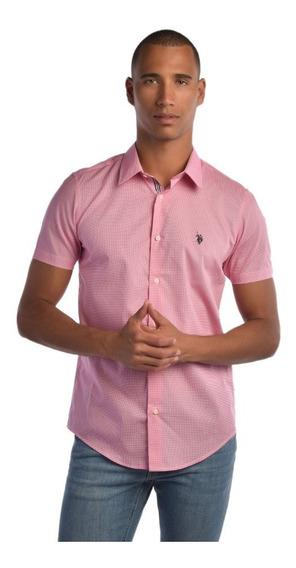 Camisa U.s. Polo Custom Fit Multicolor Usbms446164 Hombre