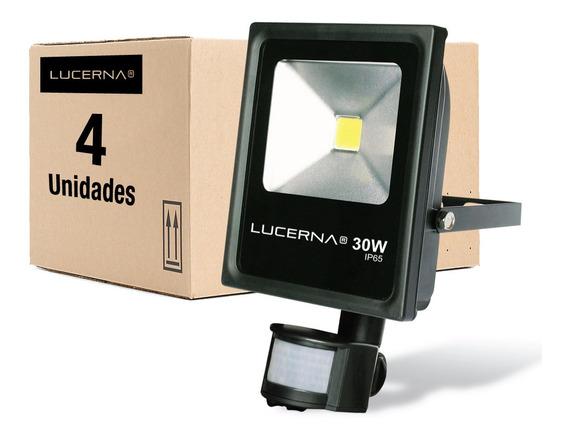 Reflector Led 30w / Sensor Movimiento Lucerna (4 Unidades)