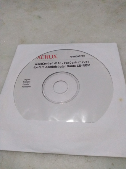 Cd Rom Xerox Workcentre 4118/fax Centre 2218 System Administ