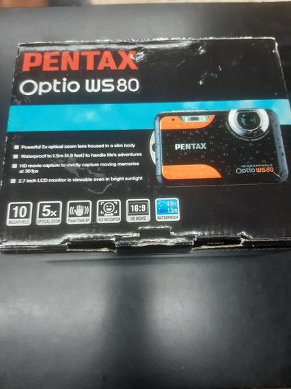 Camara Pentax Optio Ws80 De Agua