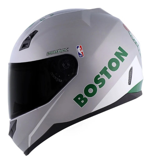 Capacete Norisk Ff391 Nba Boston Celtics Prata