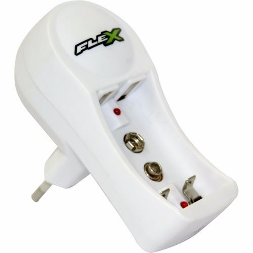Carregador De Pilha Aa/aaa E Bateria 9v Flex Fxc11 Bivolt.