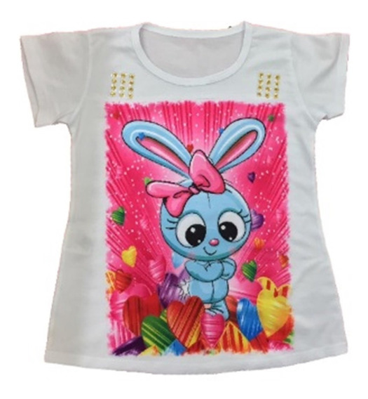 20 Camiseta Blusa Infantil Feminina Roupa Menina Atacado