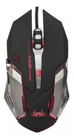 Mouse Usb Gamer 2400 Dpi Knup Tigerx Base Metal