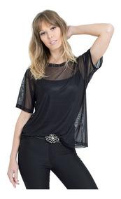 Blusa Camisa Tule Transparente Bruna Marquezine / Blogueiras