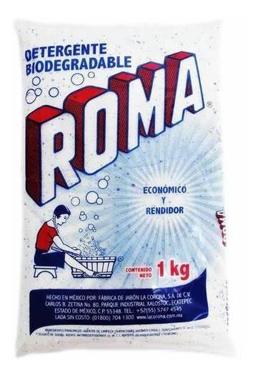 Roma Detergente En Polvo Paquete 1 Kg