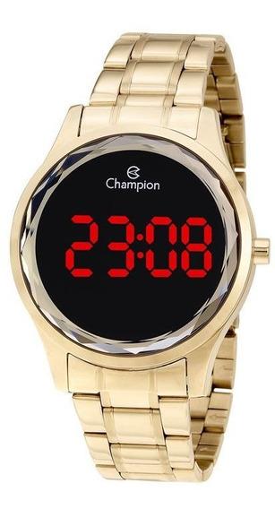 Relógio Feminino Digital Champion Dourado Ch48019v