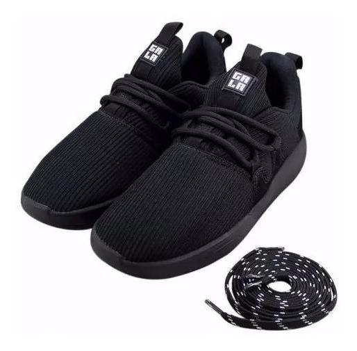Tênis Hocks Skate Galáctica Gala Preto Black Sneaker Masculino E Feminino Original Confortável Promoção Envio Imediato