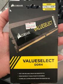 Memória Corsair Value Select Ddr4 16gb 2400mhz 1x 16gb