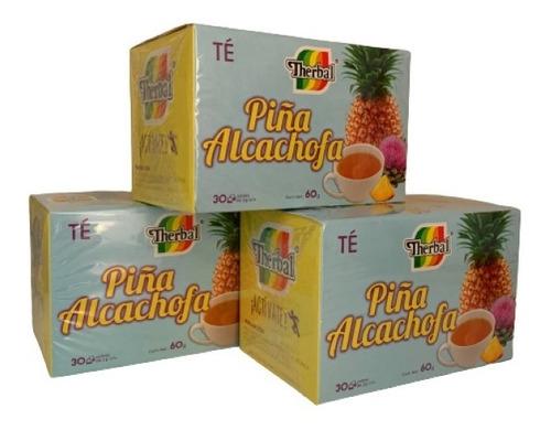 Té Piña Alcachofa Therbal 30 Sobres (3 Pzs) Envio Full