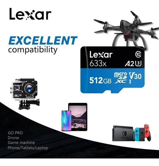 Lexar 512gb Micro Sd Sdxc Classe10 U3 4k A2 633x 95mb/s