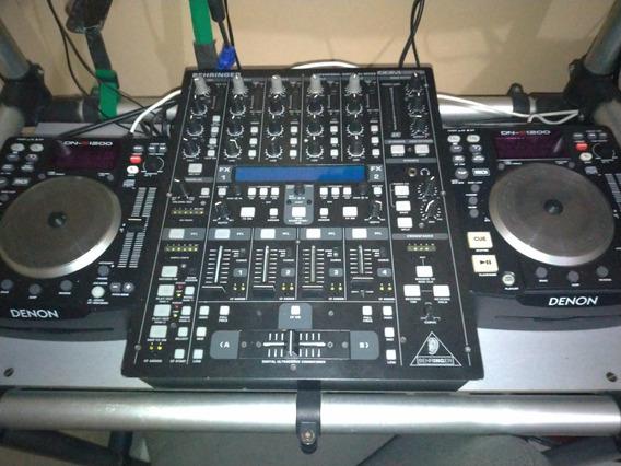 Kit Par Cdj Denon Dn-s1200 + Mixer Behringer Ddm4000 + Case