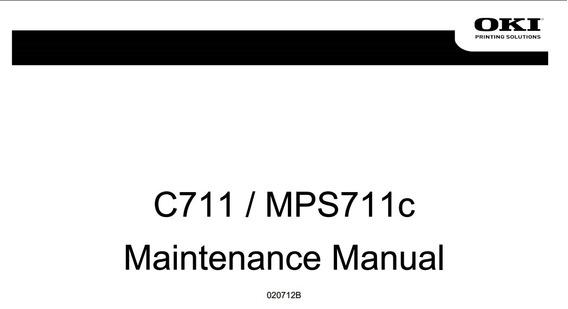 Service Manual Oki C711