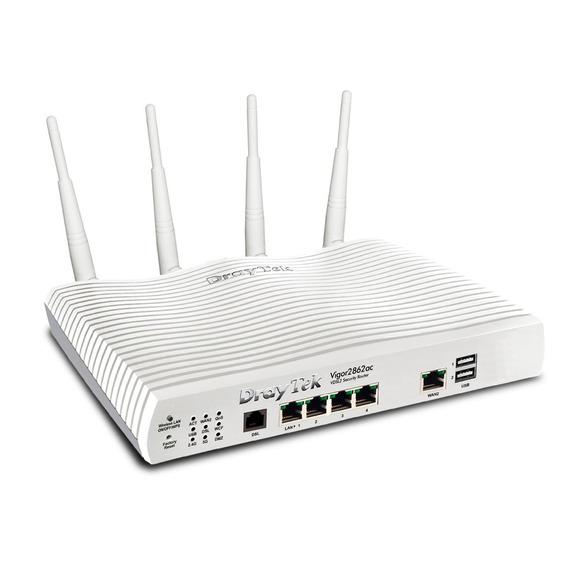 Modem Router Draytek Vigor 2862ac Wifi 2 Wan Adsl2+ Giga Vpn