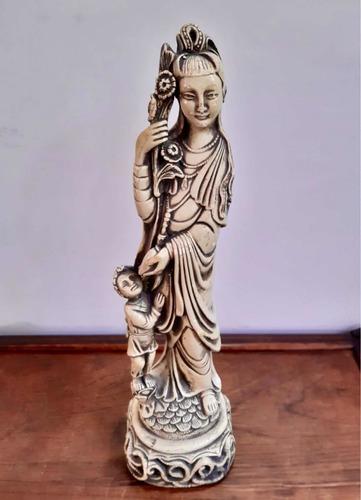 Imagen 1 de 5 de Antigua Figura China De Cerámica  42 Cm