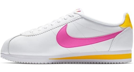 Tenis Nike Classic Cortez Leather Mujer Piel Clasico Retro
