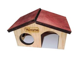 Casa De Madera Para Hamster U Otros Roedores 17x9.5x10cm