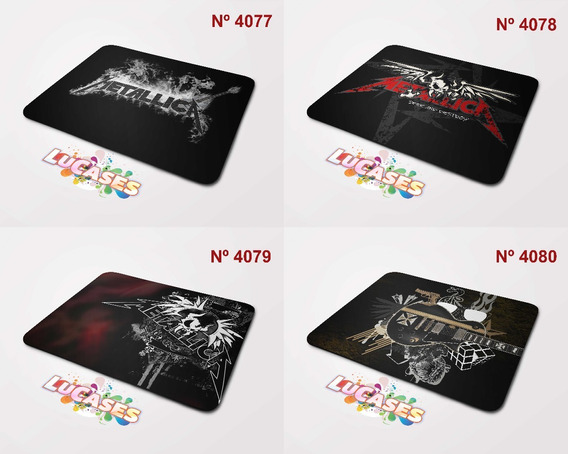 Mouse Pad Metallica Metalica Metal Rock Musicas Mousepad
