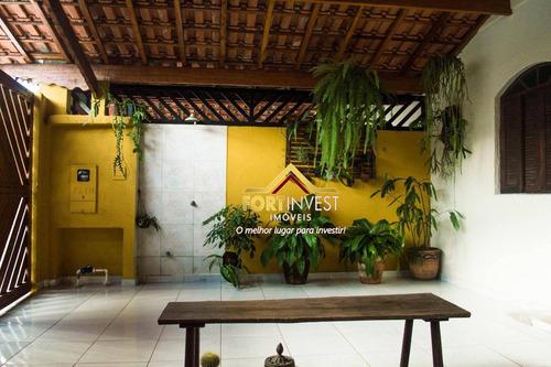 Casa Com 3 Dormitórios À Venda, 240 M² Por R$ 450.000,00 - Canto Do Forte - Praia Grande/sp - Ca0320