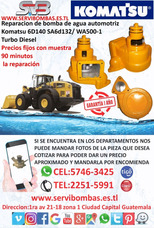 Bombas De Agua Automotrices Komatsu Wa500-1 Turbo Guatemala