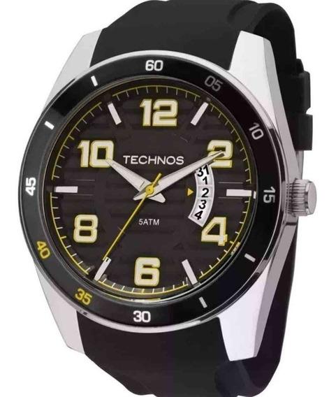 Relógio Technos Racer Masculino Prateado Silicone 2115ksr/8y