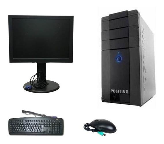Pc Cpu Completa Pentium 4 2gb Hd 80gb + Monitor 15