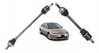 Semi Eixo + Tulipa Dir Esq Civic 2001/2006 Automático - Par