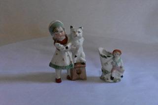 Antiguos Vintage Muñeco Porcelana Biscuit Francesa