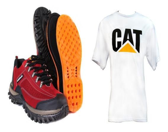 Promoção Tenis Caterpillar Adventure+camisa Personalizada