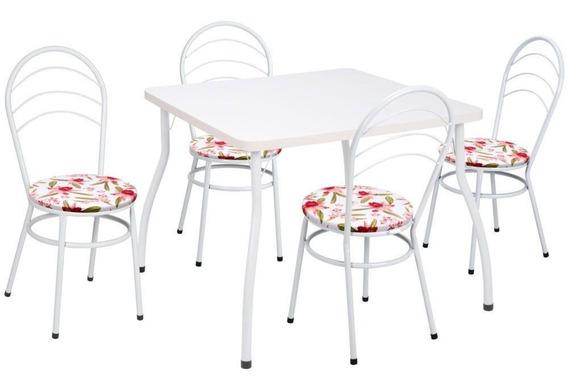 Conjunto Fil Mesa 13 Com 4 Cadeiras 09 Colorida Aço