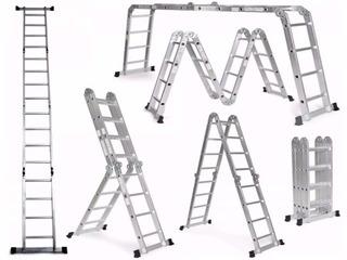 Escalera Multifuncion Aluminio 3.5 M Incluye Asistencia 6/1