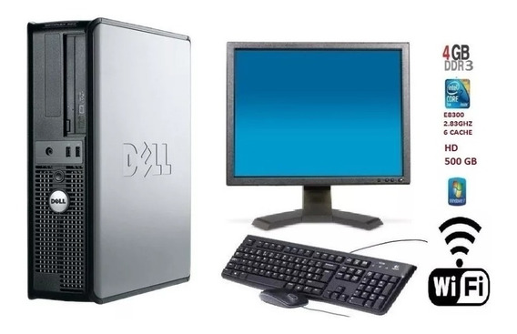 Pc Dell 380 Core 2 Duo E8300/ 4gb Ddr3 / Hd 500 Gb/promoção!