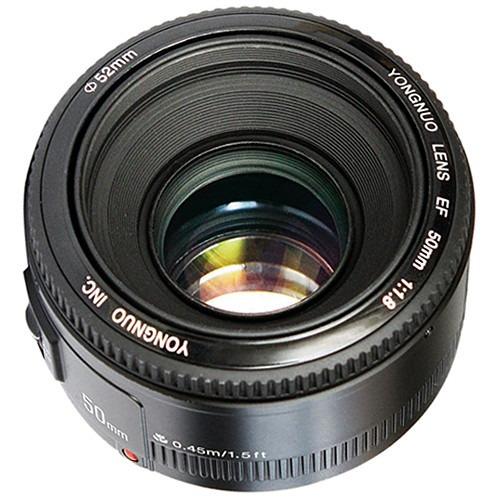Lente Yongnuo 50mm F1.8 Para Nikon C/ Motor De Foco