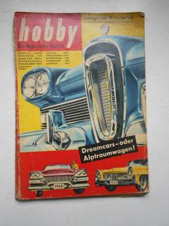 Revista Hobby - Jan/1958 - Automóveis / Aviação - Alemanha