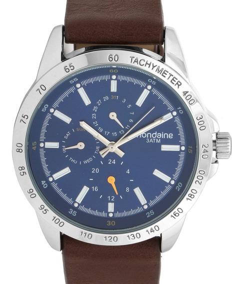 Relógio Mondaine Masculino Couro Multifunção - 99217g0mvnh1