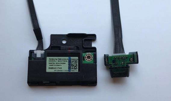 Kit Sensor Wifi Cabo Flat Par Alto Falantes Un40j5290ag