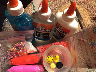 Kit Elmers Slime Clear Glitter