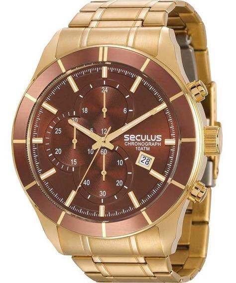 Relógio Seculus Masculino Chronograph Original 23600gpsvda2