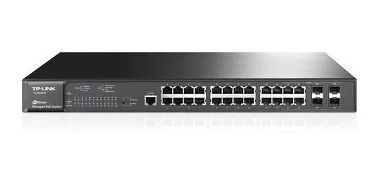Switch Tp-link 24 Puertos Poe Gigabit + 4 Sfp Tl-sg3424p L2
