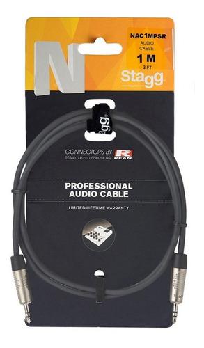 Imagen 1 de 2 de Cable Estéreo Mini Plug-mini Plug De 1 Metro Stagg Nac1mpsr