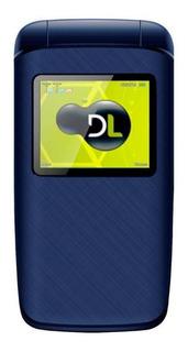 Celular Dl Yc335 - Azul, Flip, Dual Chip, Tela 1.8, Câme