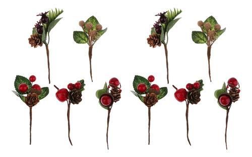 10 Peças Shabby Chique Flores Secas Artificiais Diy