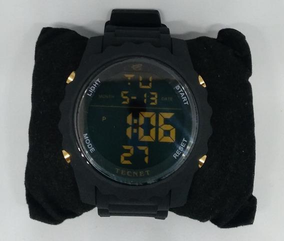 Relógio Masculino Tecnet Black Militar Barato Promoção