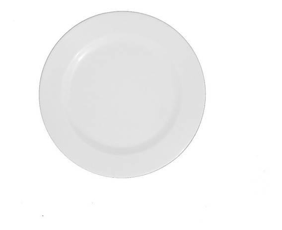 Plato Postre X12 Melamina Blanco 20cm Gastronomico