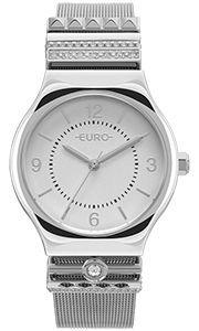 Relógio Euro Feminino Prata Strass Eu2035ynk/3k