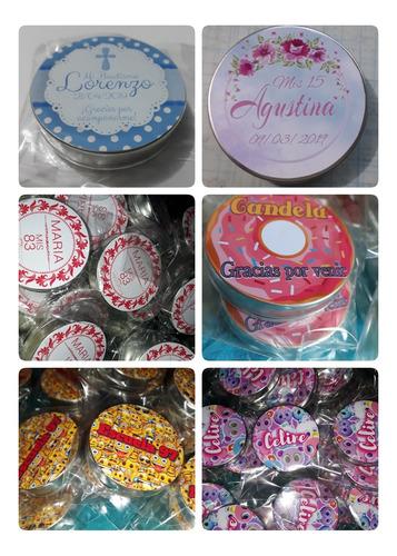 30 Latitas Personalizadas Con Sticker Superior Souvenirs