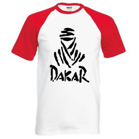 Camiseta Branca Verm Tam M M.c Dakar Algodão Barata Promoção