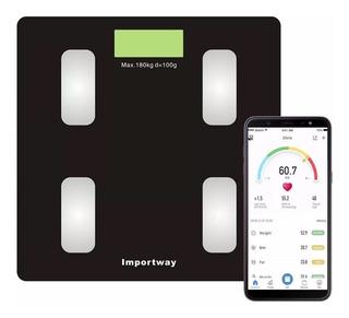 Balança Digital Bioimpedância Com Aplicativo Bluetooth 180kg