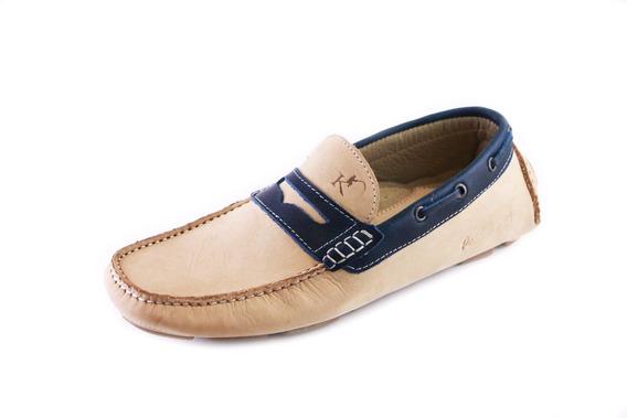 Zapatos Driver Mocasines Peskdores Arena Azul Draz0048