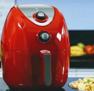 Fritadeira Eletrica Air Fry Ph3l Philco Inox Vermelha 127 Vt